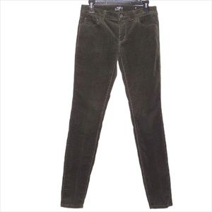 Loft Outlet Green Corduroy Modern Skinny Pants 2